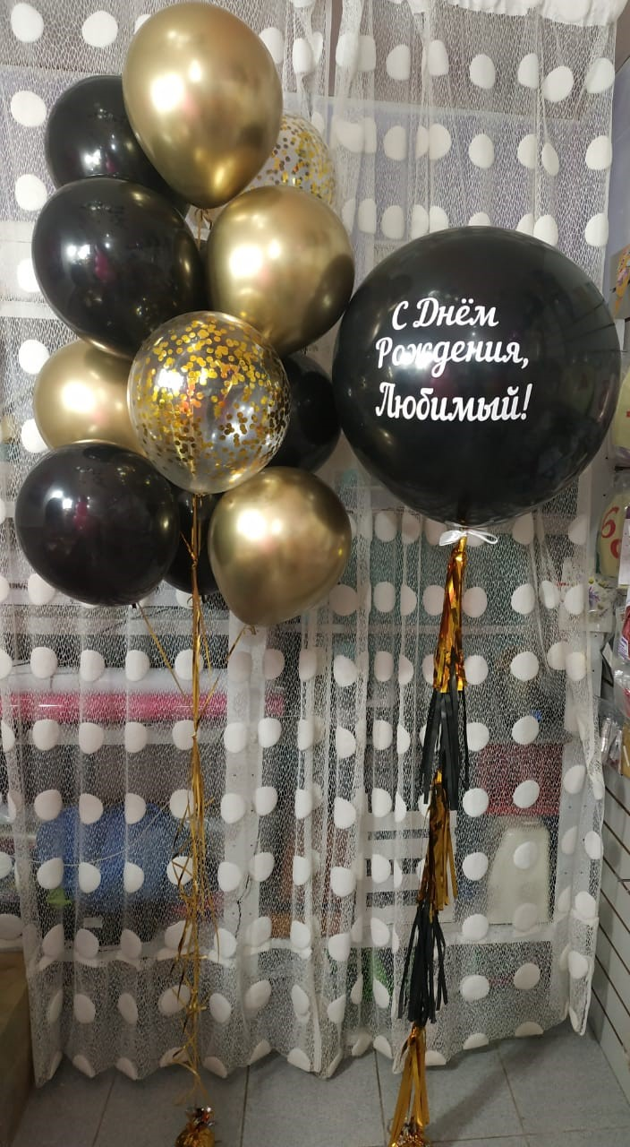 Большие шары для мужчины на день рождения