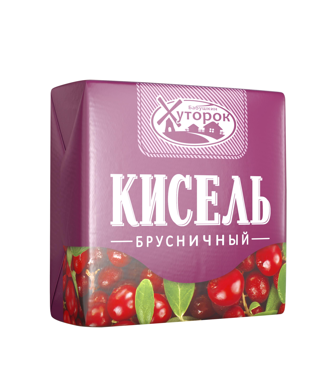 Картинка Кисель БАБУШКИН ХУТОРОК брусника