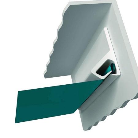 Картинка  клипсовой системы крепления натяжных потолков в Вашем городе по низкой цене от 199 руб м2