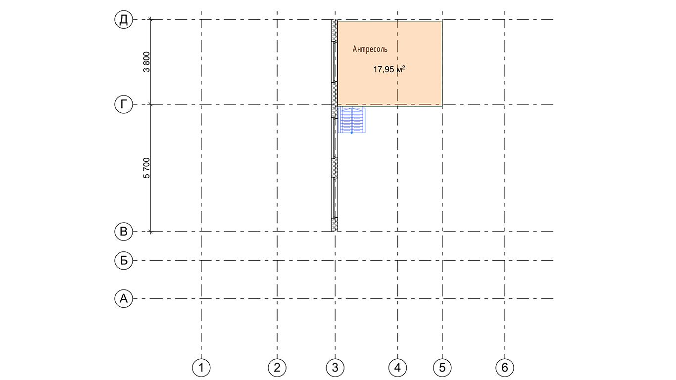 План второго этажа Lindau Rahmenhaus (Каркасный дом Линдау)