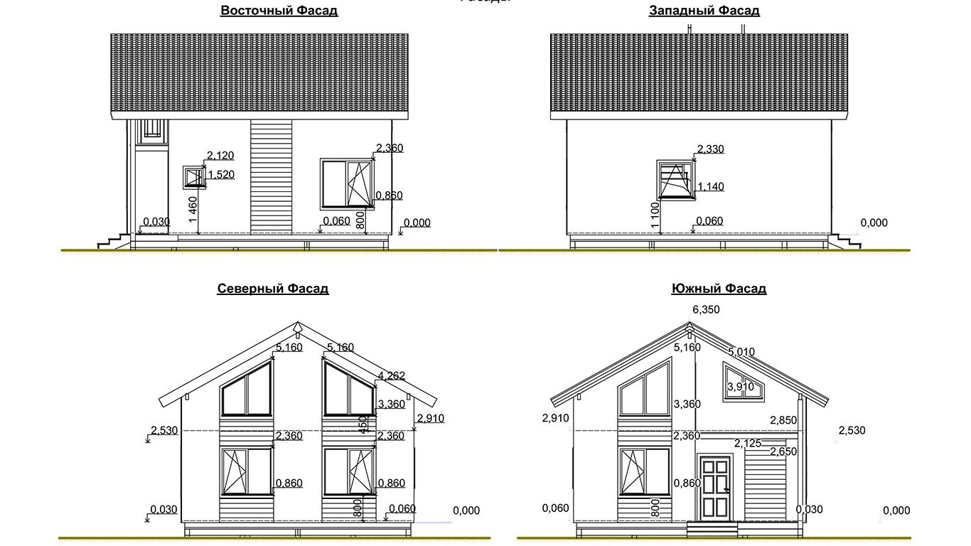 Фасады Koln 1.0 Rahmenhaus (Каркасный дом Кельн 1.0)