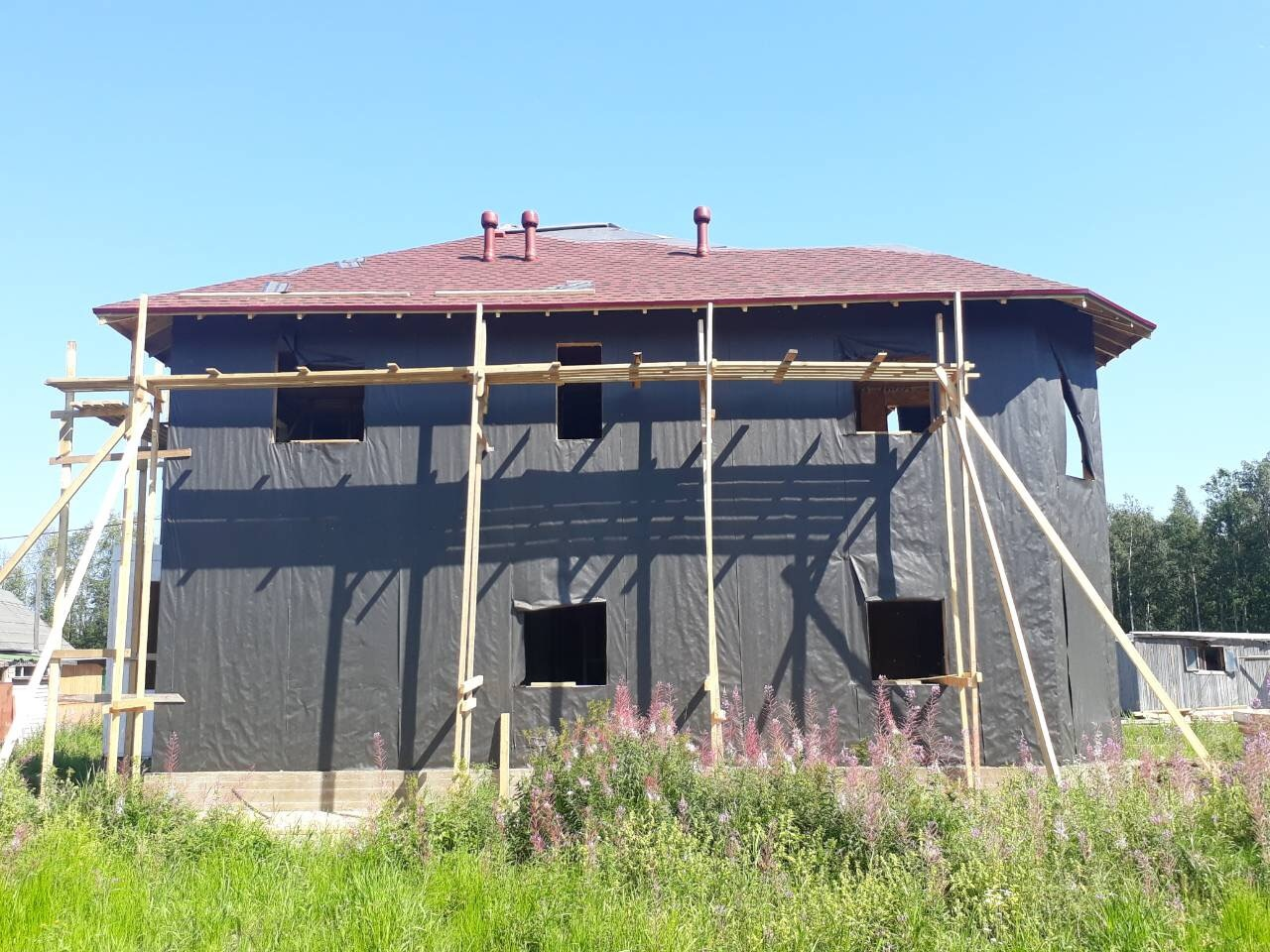 фото дома из сип панелей №2 коккорево