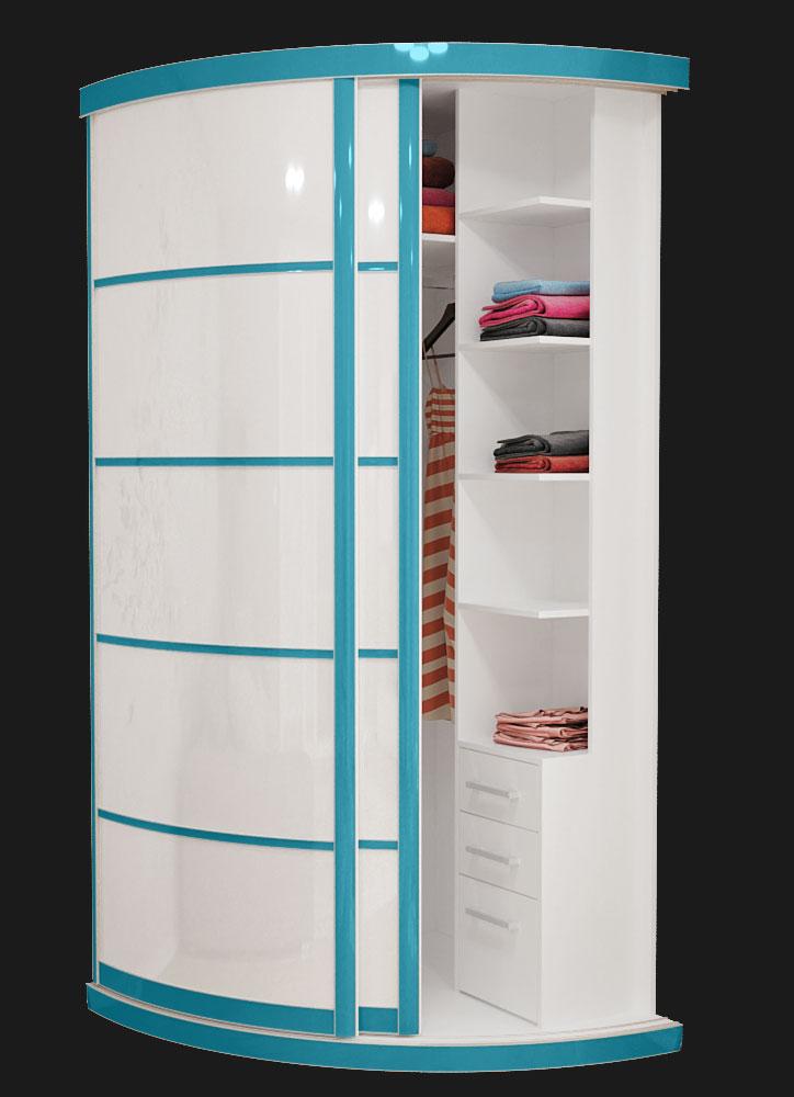 Выгнутый радиусный шкаф M-1 Бонди
