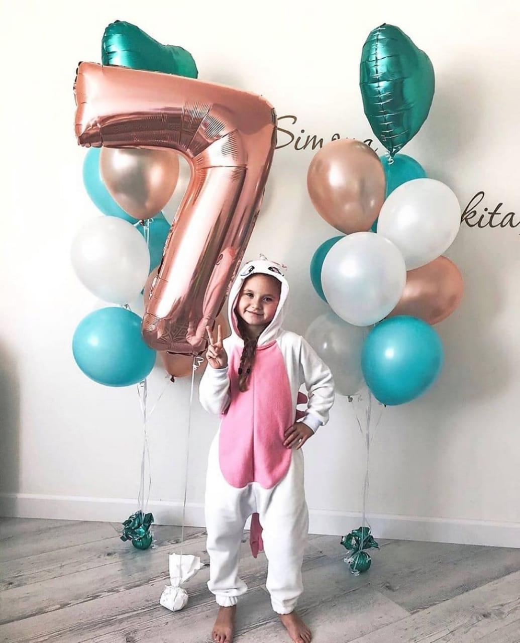 Шары на день рождения девочки 7 лет