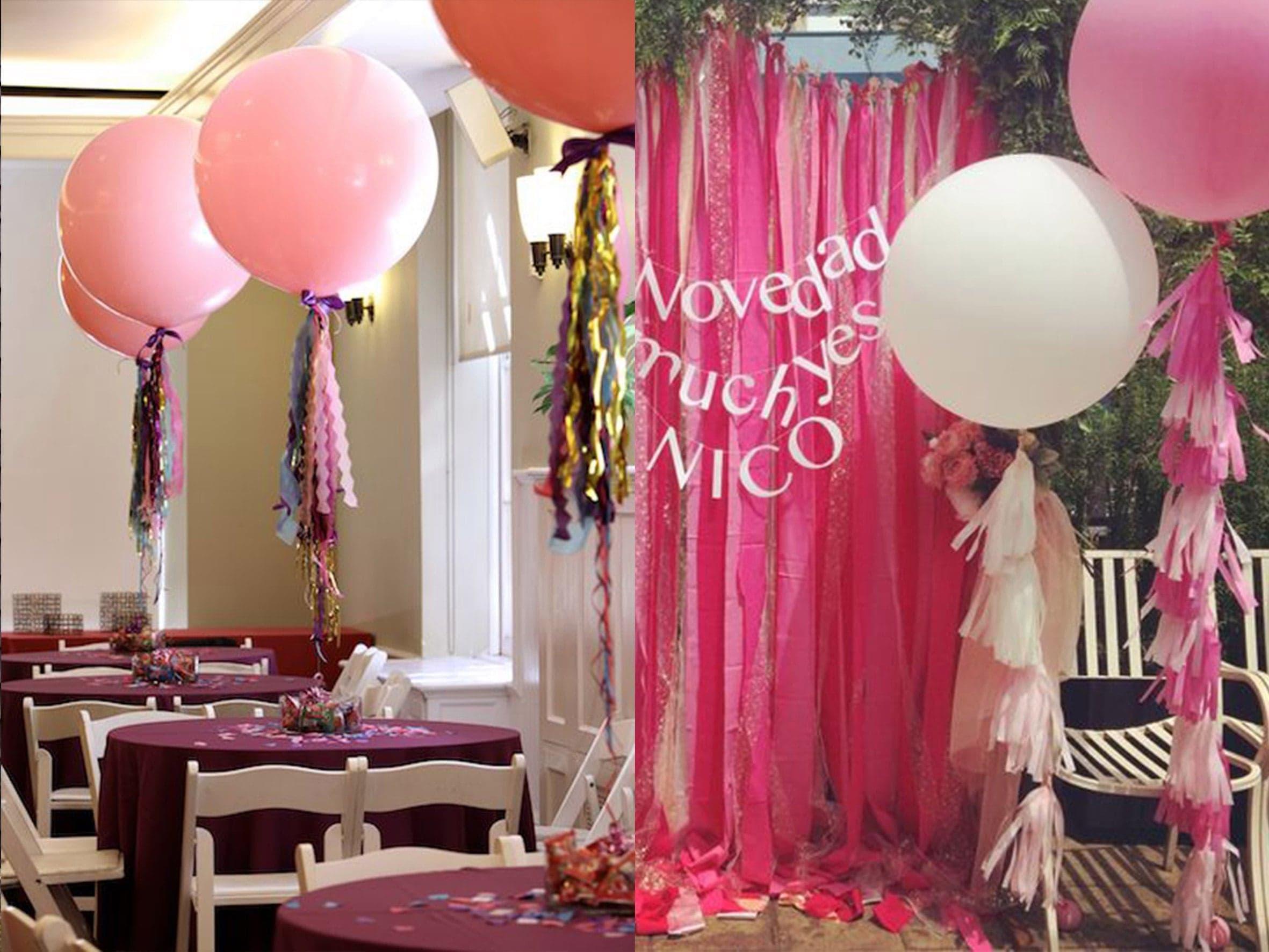 украшение свадьбы шариками