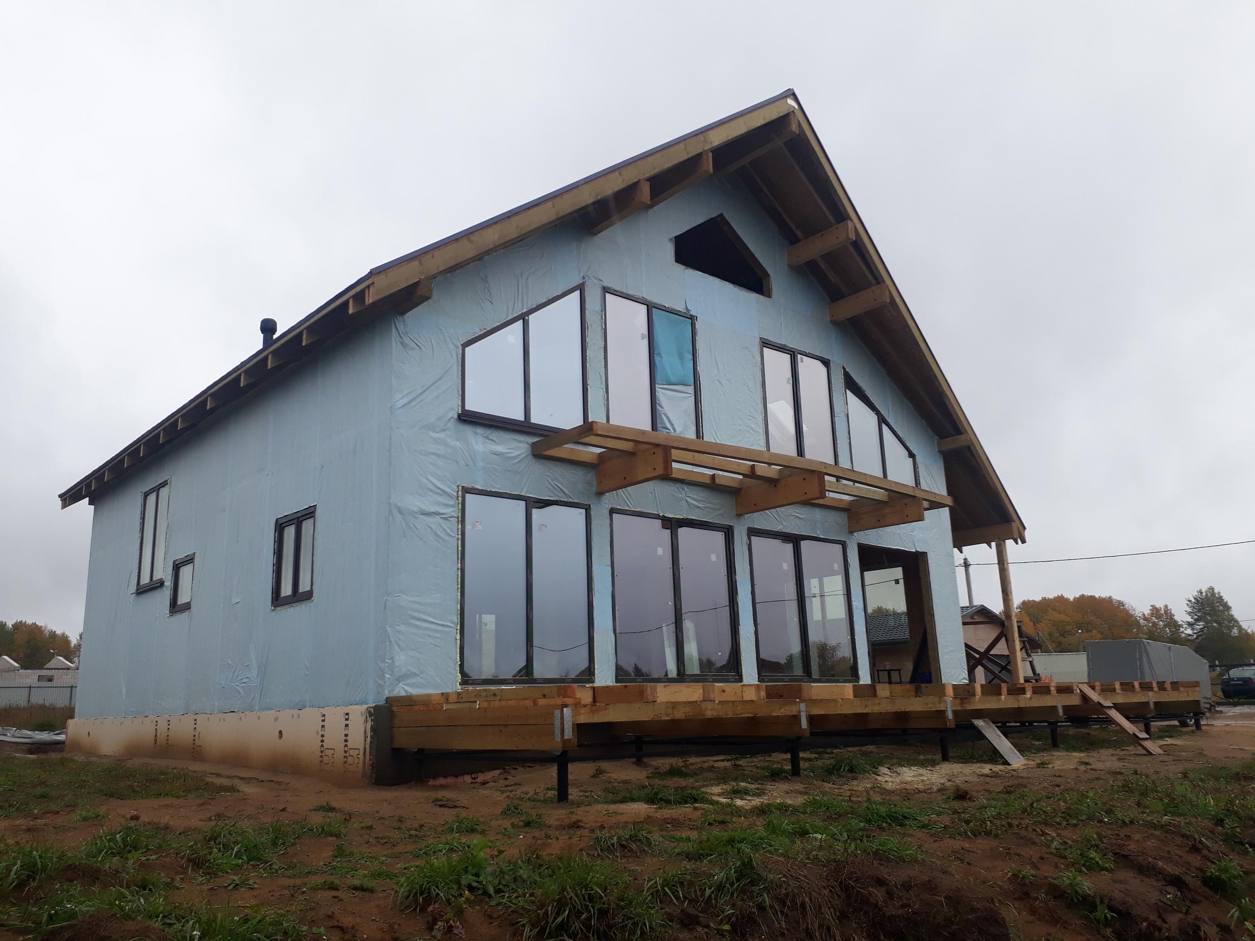 фото дома из сип панелей №6 терра выборгское