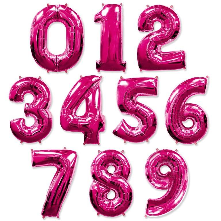 Фольгированный шар цифра