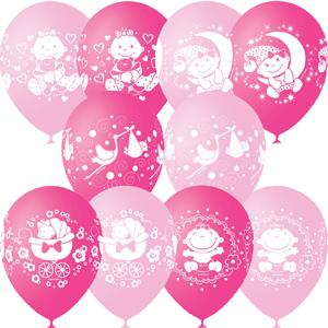 шарики на выписку девочки