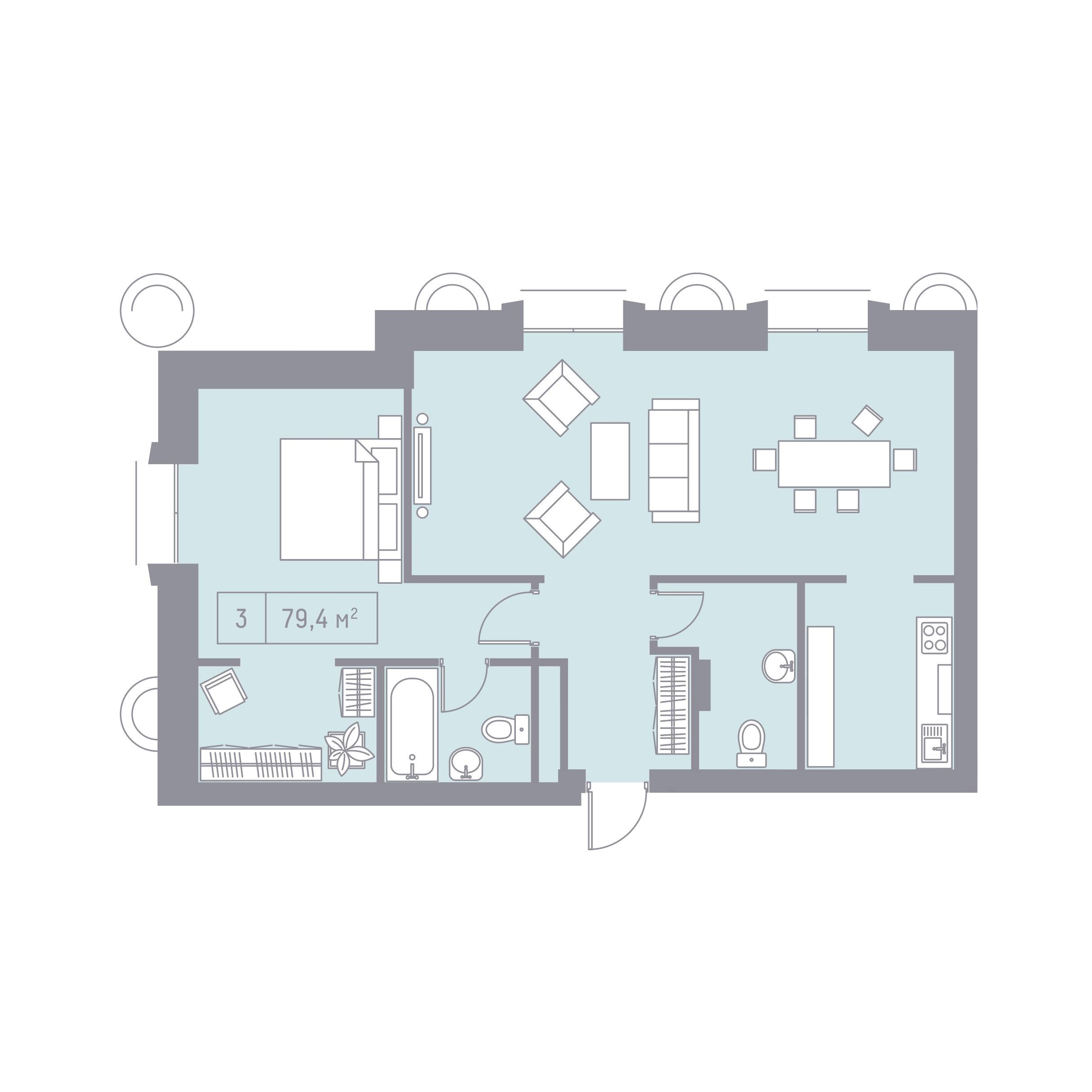 Кутузовский, 12 планировка квартиры