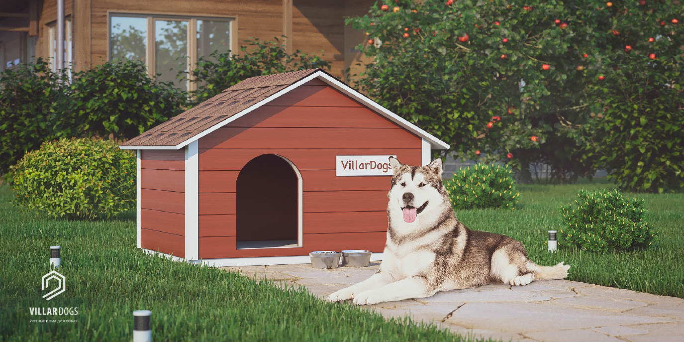 Будка для собаки с тамбуром | Фотографии | VillarDogs