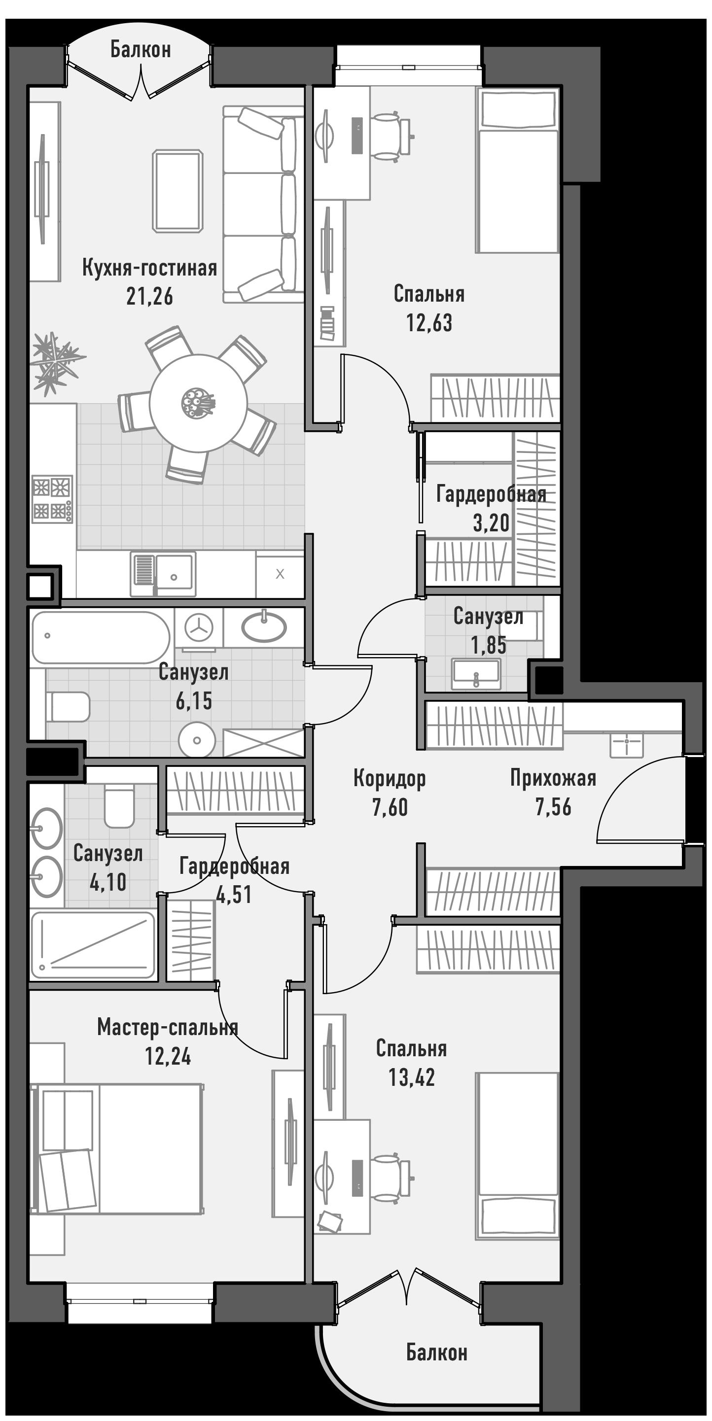Планировка дом Достижение