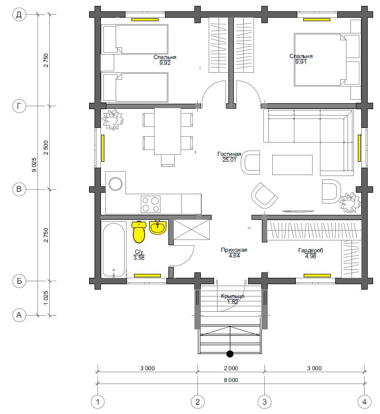План первого этажа Bremen (Дом Бремен)