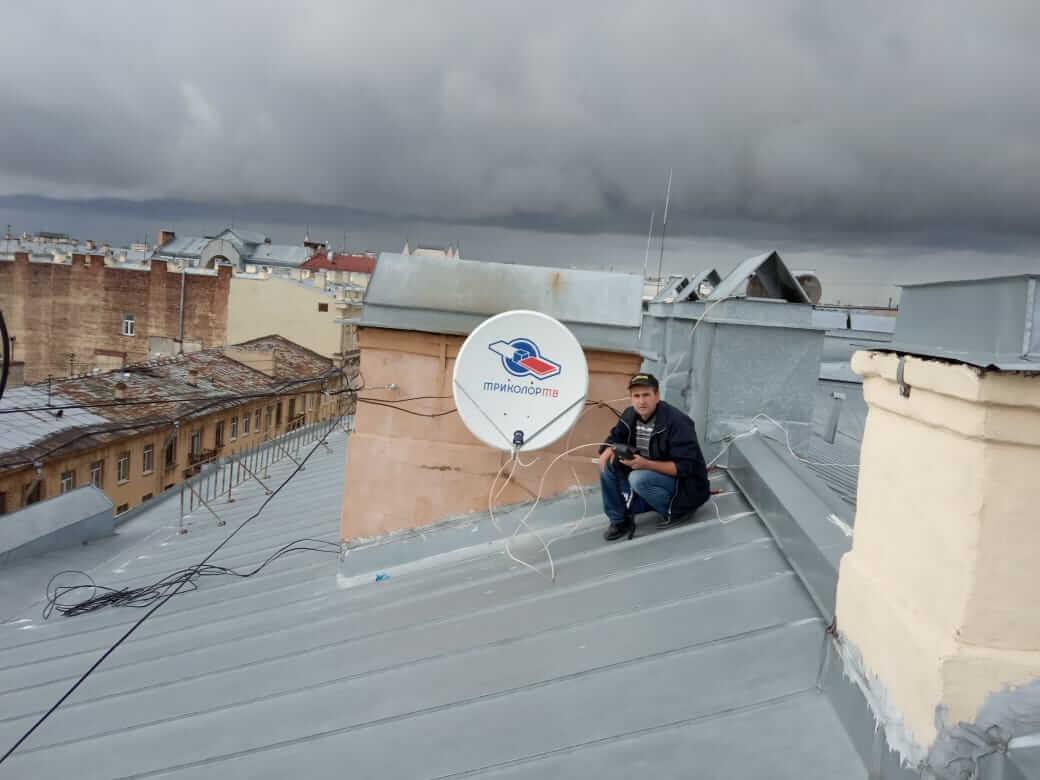 спутниковая тарелка установка