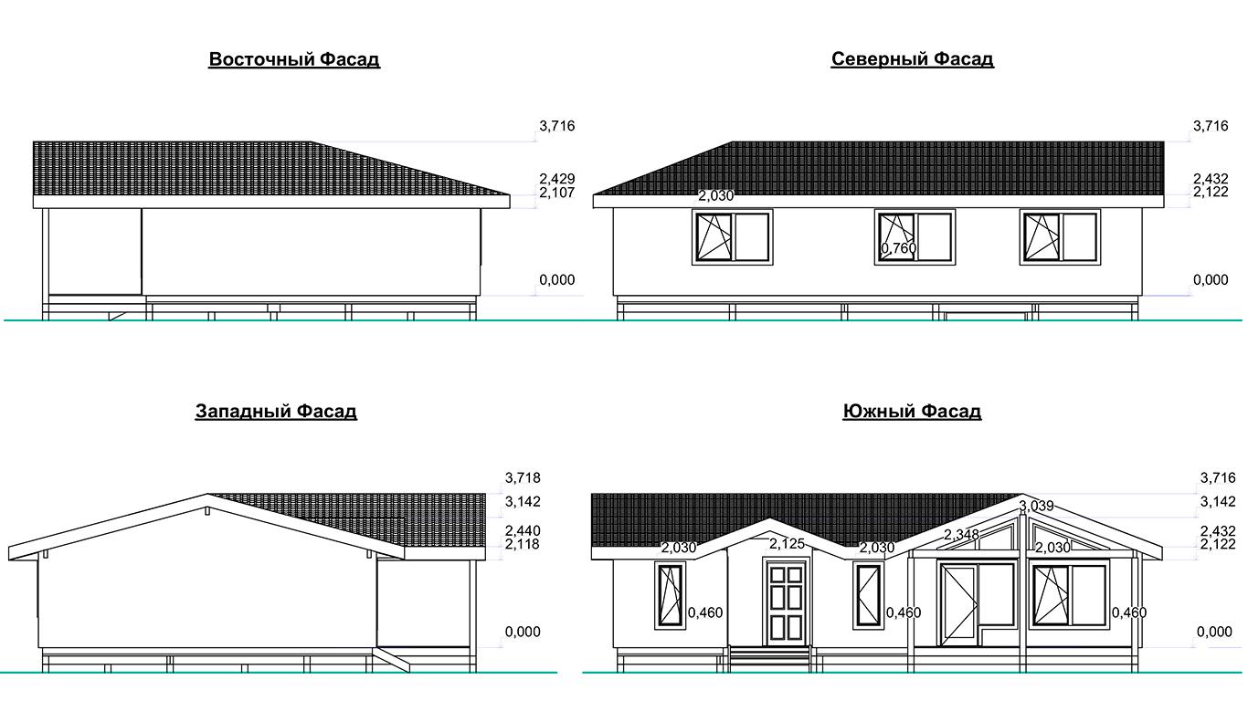 Фасады Dortmund Rahmenhaus 1.1 (Каркасный дом Дортмунд 1.1)