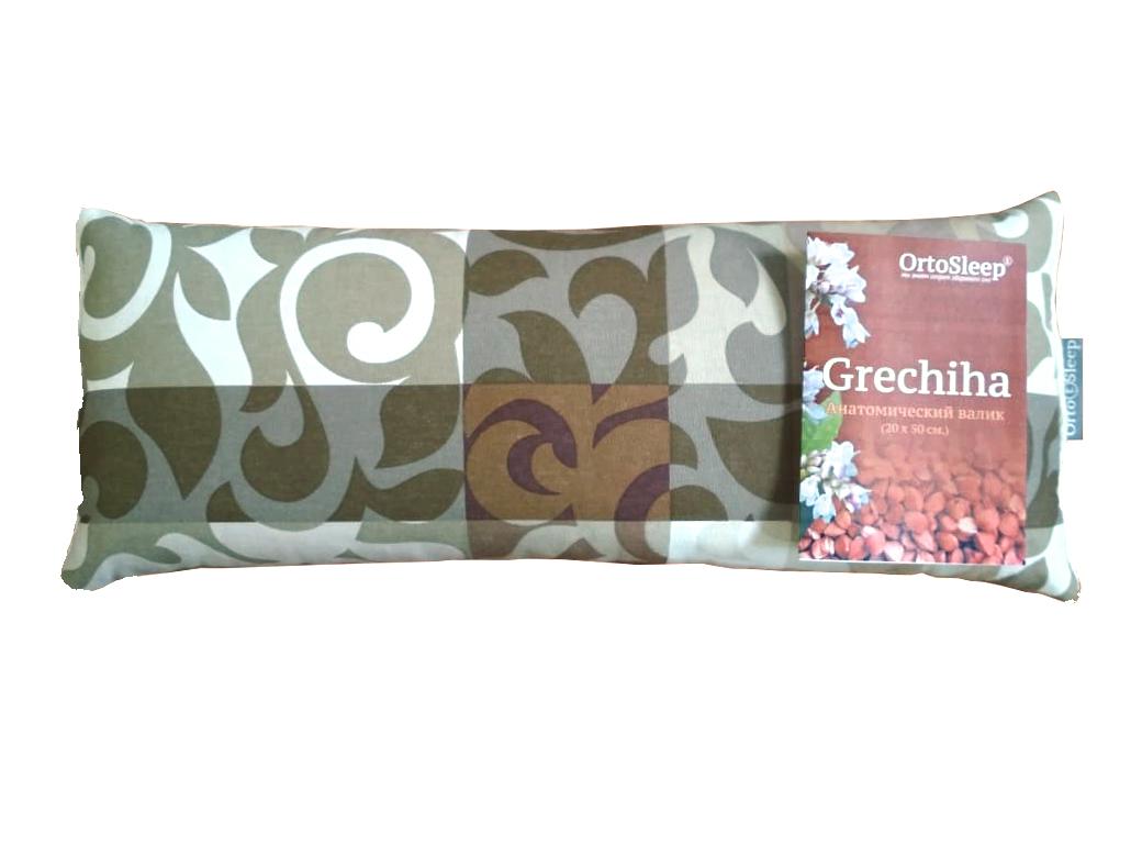 подушка с наполнителем из гречишной лузги, из натуральных материалов ортослип