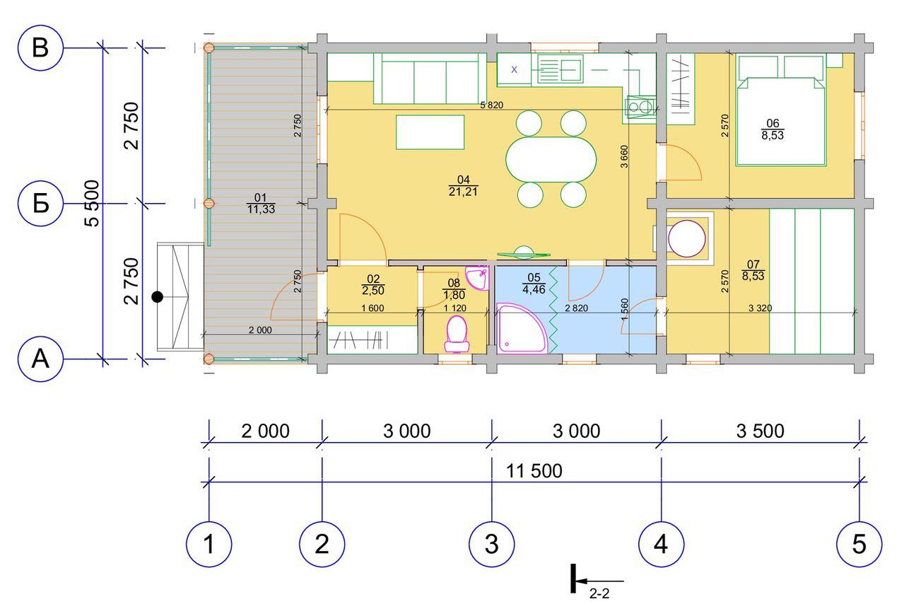 План первого этажа Oberau BAN (Баня Оберау)