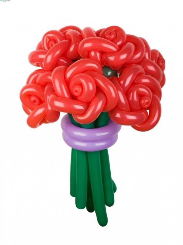 Букет роз из шаров для учительницы