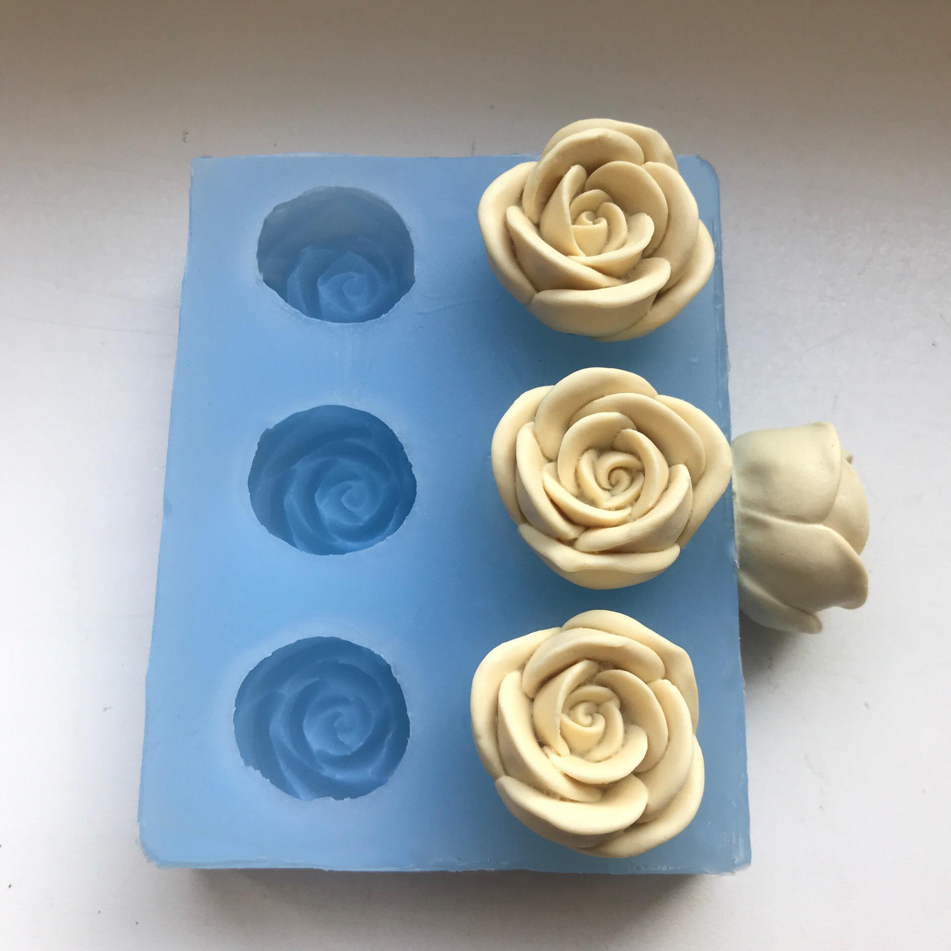 Молд для мини роз, молды для роз, молд роза