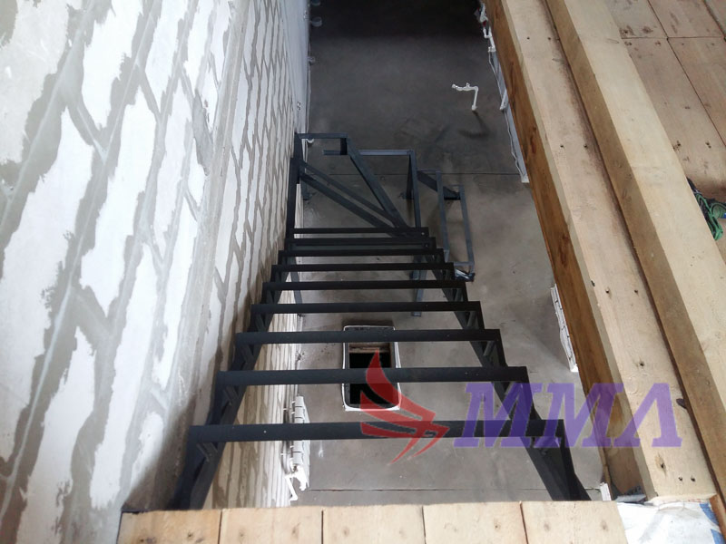 Лестница из металла, каркас лестницы, металлокаркас лестницы,