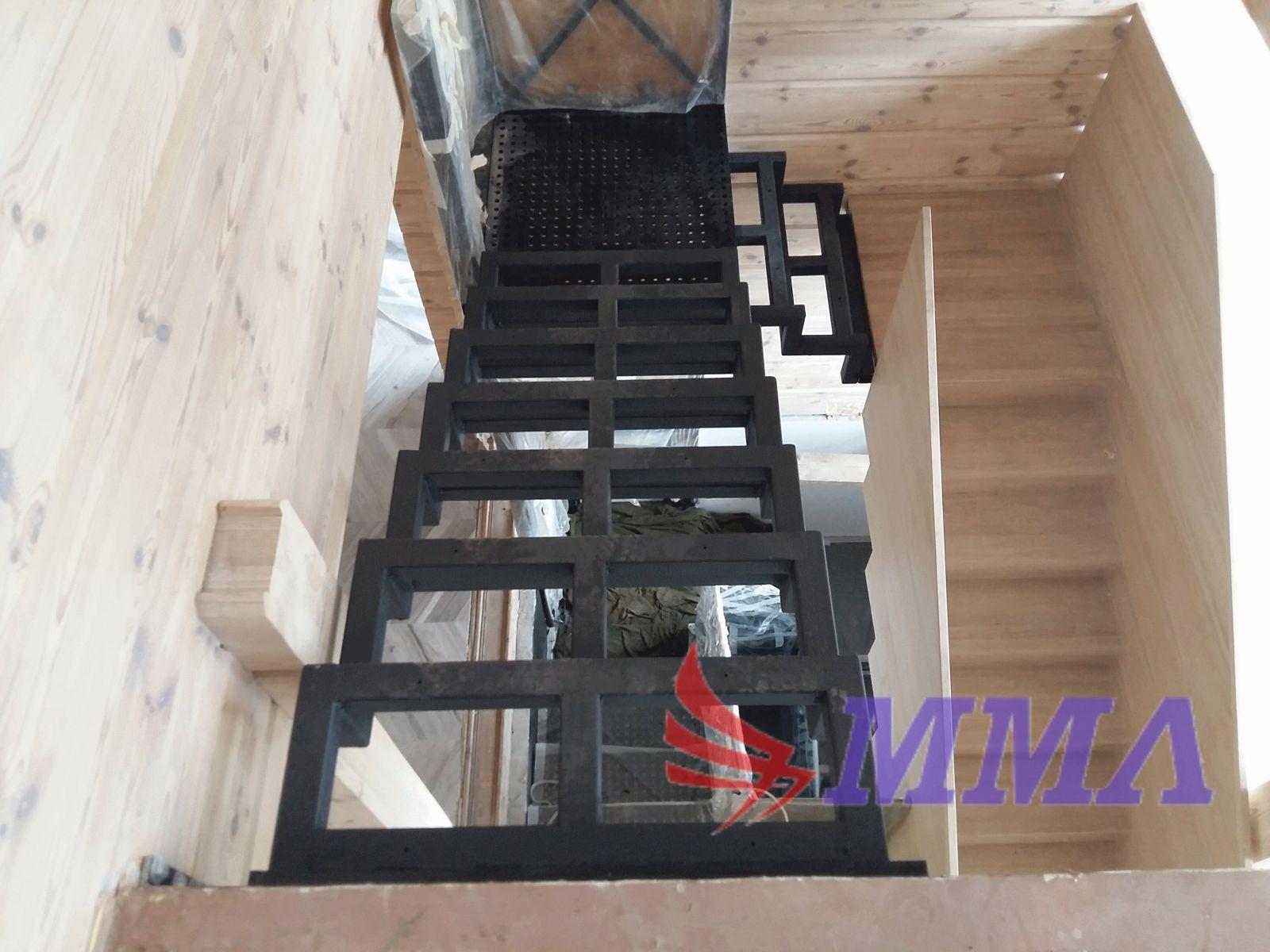 металлокаркас, лестница, каркас,