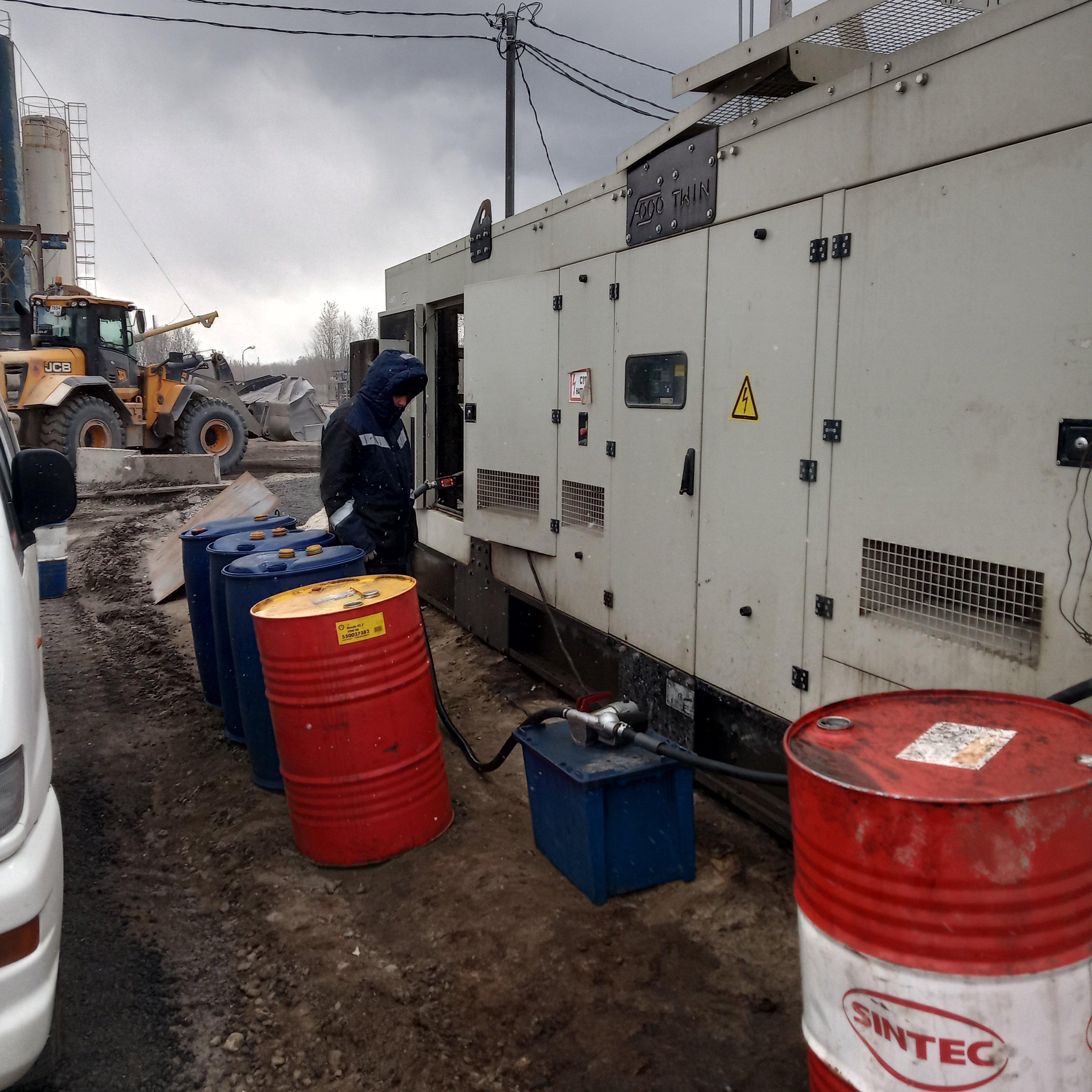 Установка ДУТ на генератор
