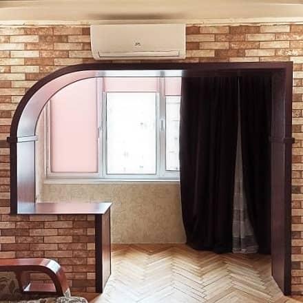 Обшивка выхода на балкон