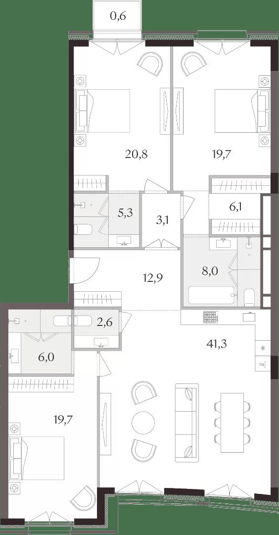 Планировки 3-комнатных квартир