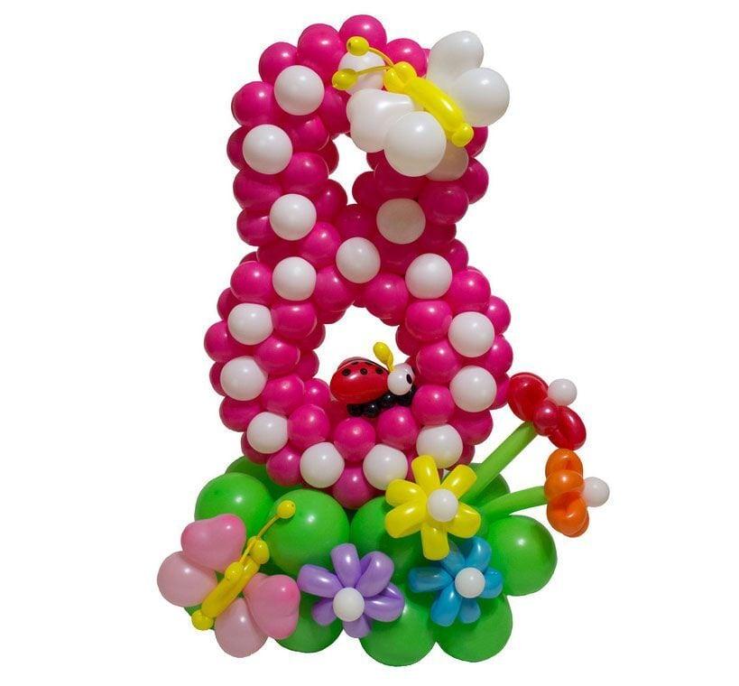Цифра 8 из шаров