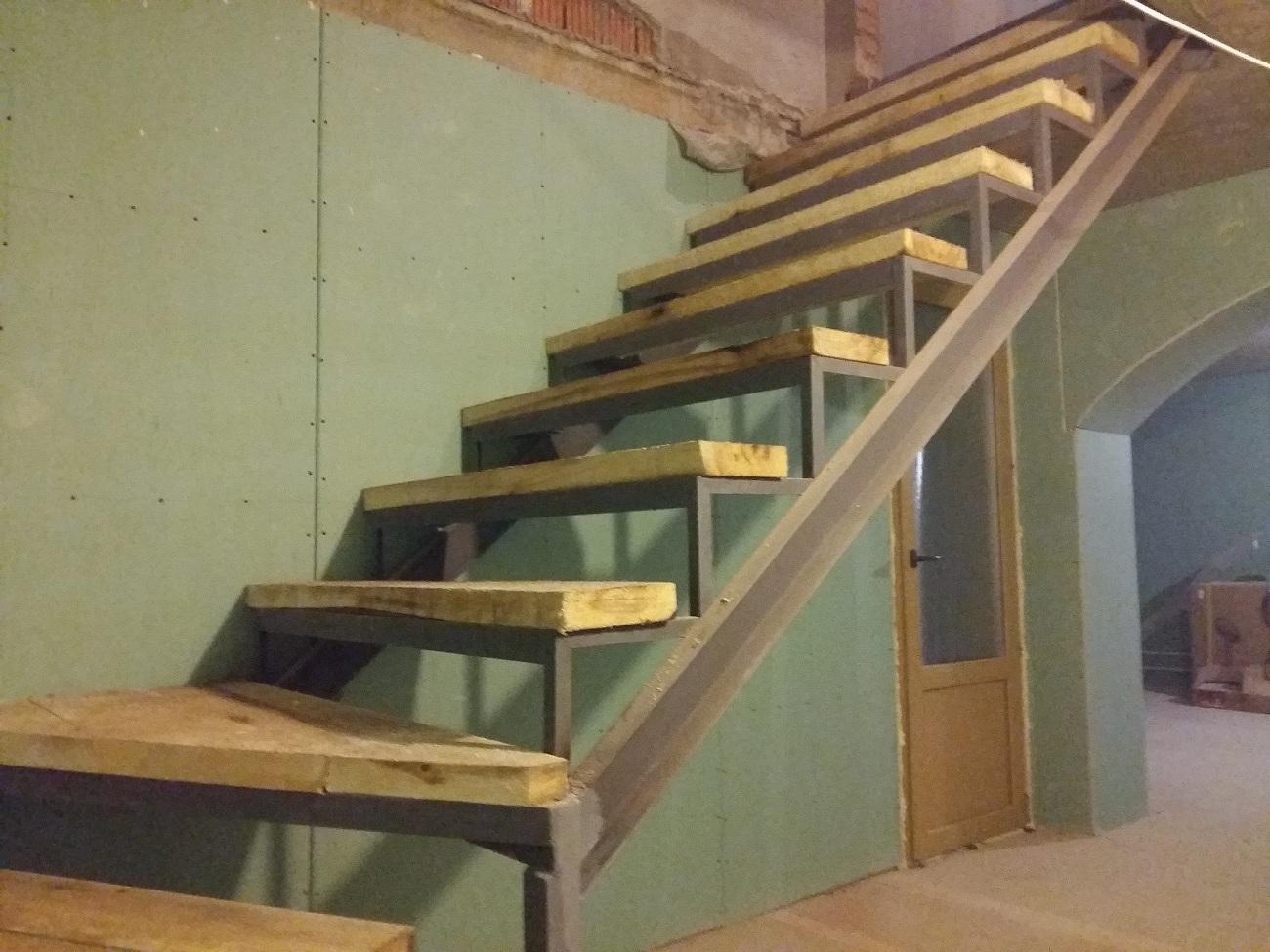 закрытый тип, металлокаркас, лестница, каркас,
